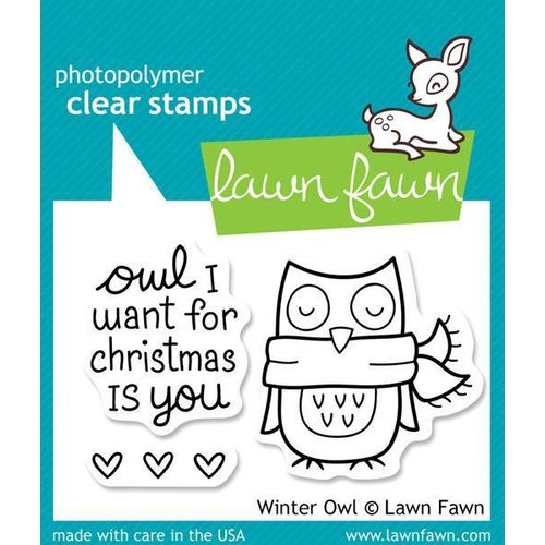 Lawn Fawn - Clear Stamps - Winter Owl LF434