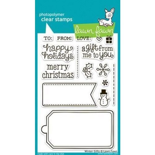 Lawn Fawn - Clear Stamps - Winter Gifts LF566