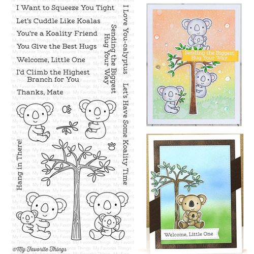 my favorite things clear stamps cuddly koalas mft. Black Bedroom Furniture Sets. Home Design Ideas