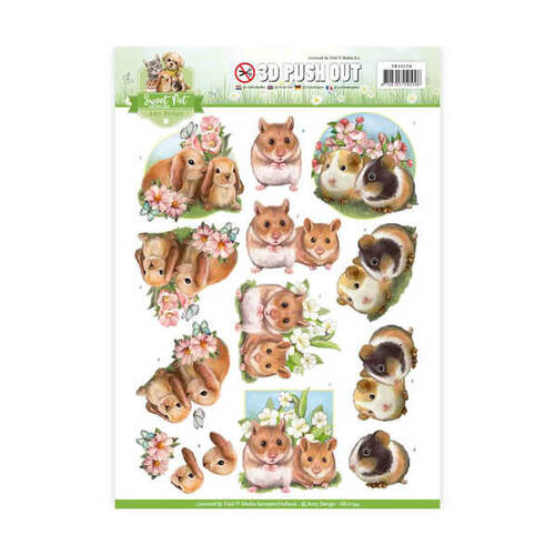 Amy Designs Decoupage 3D Push Out Pets - Rodents SB10194