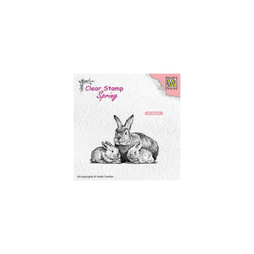 Nellie Snellen Clear Stamps Spring - Rabbit Family SPCS010