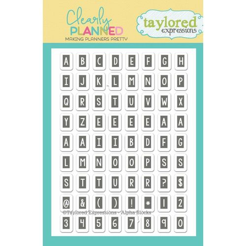 Taylored Expressions Stamps - Clearly Planned - Alpha Blocks - TECP04
