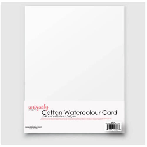 Uniquely Creative A4 Cotton Watercolour Card 360gsm (10 Sheets)